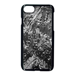 Fern Raindrops Spiderweb Cobweb Apple Iphone 7 Seamless Case (black) by Simbadda