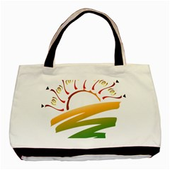 Sunset Spring Graphic Red Gold Orange Green Basic Tote Bag (two Sides) by Alisyart