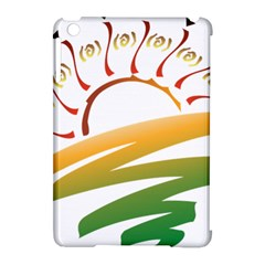 Sunset Spring Graphic Red Gold Orange Green Apple Ipad Mini Hardshell Case (compatible With Smart Cover) by Alisyart