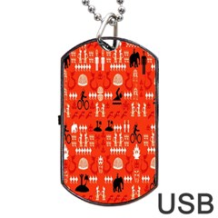 Traditional Wayang Dog Tag Usb Flash (one Side) by Alisyart
