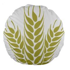 Tree Wheat Large 18  Premium Round Cushions by Alisyart