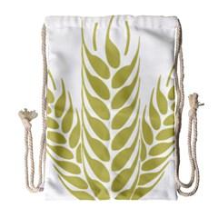 Tree Wheat Drawstring Bag (large) by Alisyart