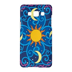 Sun Moon Star Space Purple Pink Blue Yellow Wave Samsung Galaxy A5 Hardshell Case  by Alisyart