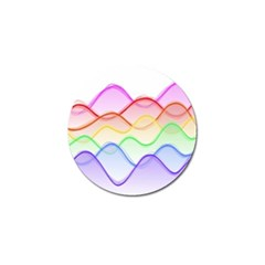 Twizzling Brain Waves Neon Wave Rainbow Color Pink Red Yellow Green Purple Blue Golf Ball Marker by Alisyart