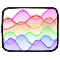 Twizzling Brain Waves Neon Wave Rainbow Color Pink Red Yellow Green Purple Blue Netbook Case (xxl)  by Alisyart