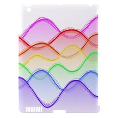 Twizzling Brain Waves Neon Wave Rainbow Color Pink Red Yellow Green Purple Blue Apple Ipad 3/4 Hardshell Case (compatible With Smart Cover) by Alisyart