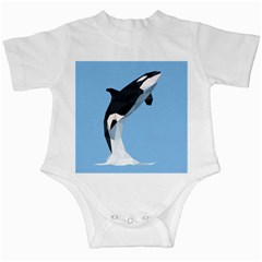 Whale Animals Sea Beach Blue Jump Illustrations Infant Creepers by Alisyart