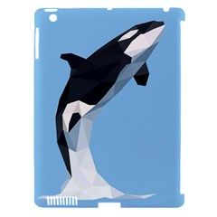 Whale Animals Sea Beach Blue Jump Illustrations Apple Ipad 3/4 Hardshell Case (compatible With Smart Cover) by Alisyart