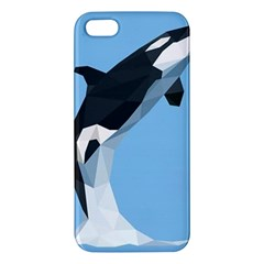 Whale Animals Sea Beach Blue Jump Illustrations Iphone 5s/ Se Premium Hardshell Case by Alisyart