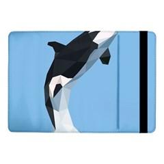 Whale Animals Sea Beach Blue Jump Illustrations Samsung Galaxy Tab Pro 10 1  Flip Case by Alisyart