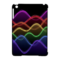 Twizzling Brain Waves Neon Wave Rainbow Color Pink Red Yellow Green Purple Blue Black Apple Ipad Mini Hardshell Case (compatible With Smart Cover) by Alisyart