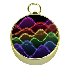 Twizzling Brain Waves Neon Wave Rainbow Color Pink Red Yellow Green Purple Blue Black Gold Compasses by Alisyart