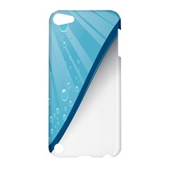 Water Bubble Waves Blue Wave Apple Ipod Touch 5 Hardshell Case by Alisyart