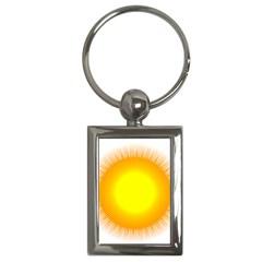 Sunlight Sun Orange Yellow Light Key Chains (rectangle)