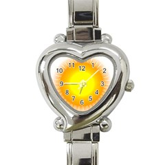 Sunlight Sun Orange Yellow Light Heart Italian Charm Watch