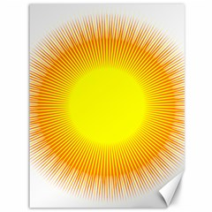 Sunlight Sun Orange Yellow Light Canvas 36  X 48   by Alisyart