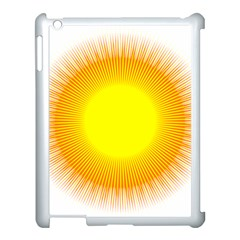Sunlight Sun Orange Yellow Light Apple Ipad 3/4 Case (white) by Alisyart