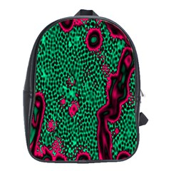 Reaction Diffusion Green Purple School Bags (xl)  by Alisyart