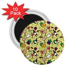 Wine Cheede Fruit Purple Yellow 2 25  Magnets (10 Pack)  by Alisyart