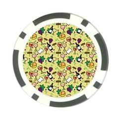 Wine Cheede Fruit Purple Yellow Poker Chip Card Guard (10 Pack) by Alisyart