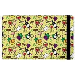 Wine Cheede Fruit Purple Yellow Apple Ipad 3/4 Flip Case by Alisyart