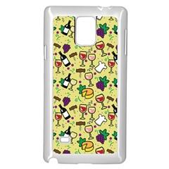 Wine Cheede Fruit Purple Yellow Samsung Galaxy Note 4 Case (white) by Alisyart