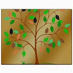 Tree Root Leaves Contour Outlines Canvas 11  X 14