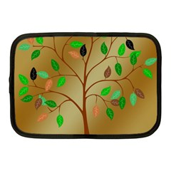 Tree Root Leaves Contour Outlines Netbook Case (medium)  by Simbadda