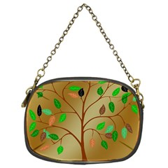 Tree Root Leaves Contour Outlines Chain Purses (two Sides)  by Simbadda