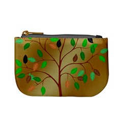 Tree Root Leaves Contour Outlines Mini Coin Purses by Simbadda