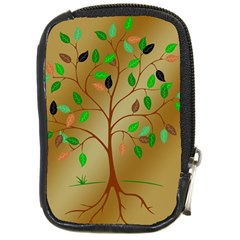 Tree Root Leaves Contour Outlines Compact Camera Cases by Simbadda