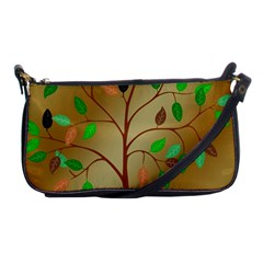 Tree Root Leaves Contour Outlines Shoulder Clutch Bags by Simbadda