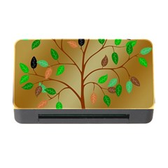 Tree Root Leaves Contour Outlines Memory Card Reader With Cf by Simbadda