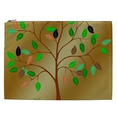 Tree Root Leaves Contour Outlines Cosmetic Bag (xxl)  by Simbadda