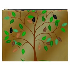 Tree Root Leaves Contour Outlines Cosmetic Bag (xxxl)  by Simbadda
