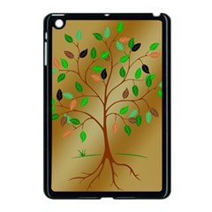 Tree Root Leaves Contour Outlines Apple Ipad Mini Case (black) by Simbadda