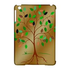 Tree Root Leaves Contour Outlines Apple Ipad Mini Hardshell Case (compatible With Smart Cover) by Simbadda