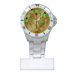 Tree Root Leaves Contour Outlines Plastic Nurses Watch by Simbadda