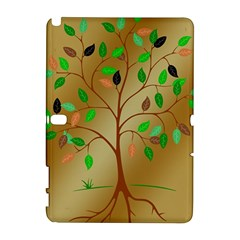 Tree Root Leaves Contour Outlines Galaxy Note 1 by Simbadda