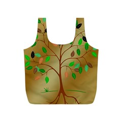 Tree Root Leaves Contour Outlines Full Print Recycle Bags (s)  by Simbadda