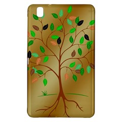 Tree Root Leaves Contour Outlines Samsung Galaxy Tab Pro 8 4 Hardshell Case by Simbadda