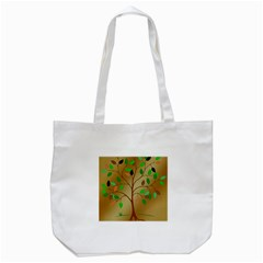 Tree Root Leaves Contour Outlines Tote Bag (white) by Simbadda