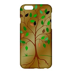 Tree Root Leaves Contour Outlines Apple Iphone 6 Plus/6s Plus Hardshell Case by Simbadda