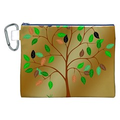 Tree Root Leaves Contour Outlines Canvas Cosmetic Bag (xxl) by Simbadda