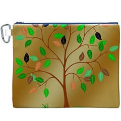 Tree Root Leaves Contour Outlines Canvas Cosmetic Bag (xxxl) by Simbadda