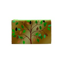 Tree Root Leaves Contour Outlines Cosmetic Bag (xs) by Simbadda