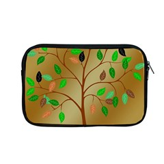 Tree Root Leaves Contour Outlines Apple Macbook Pro 13  Zipper Case by Simbadda