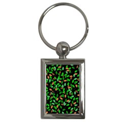 Leaves True Leaves Autumn Green Key Chains (rectangle)