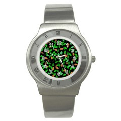 Leaves True Leaves Autumn Green Stainless Steel Watch by Simbadda