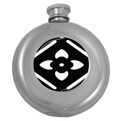 Pattern Background Round Hip Flask (5 Oz) by Simbadda